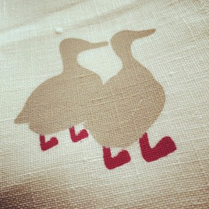 2 duck tea towels