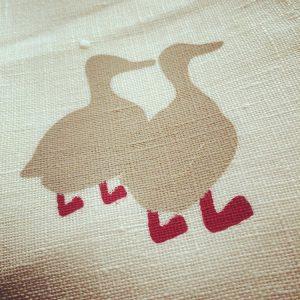 2 duck tea towels